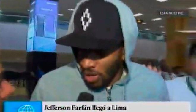 Jefferson Farfán llegó a Lima y se refirió a su exclusión de la Selección peruana [VIDEO]