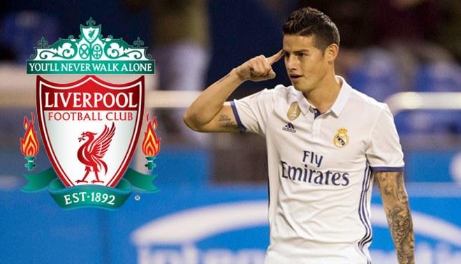 Real Madrid fichajes 2017-18: James Rodríguez recibe millonaria oferta del Liverpool