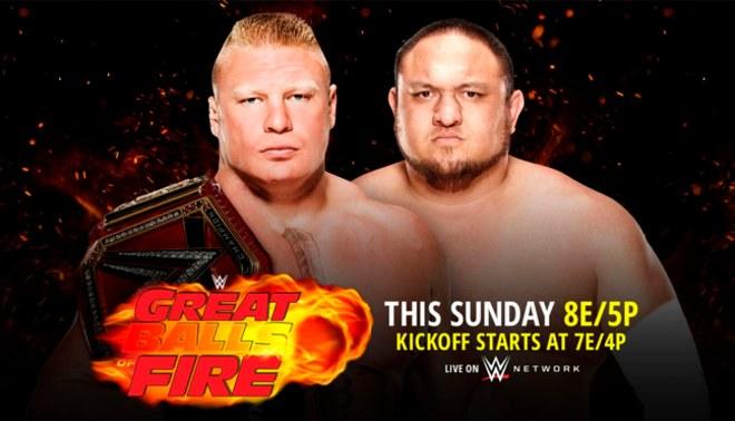 WWE Great Balls of Fire: La cartelera oficial del evento de este domingo [FOTOS]