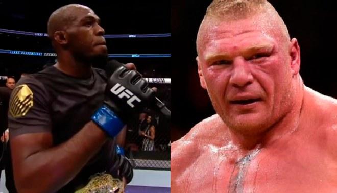 """Jon Jones tras masacrar a Daniel Cormier en UFC 214: """"Quiero a Brock Lesnar, voy a patearle el trasero"""""""