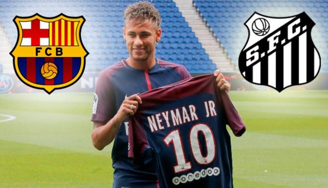 Santos exige 13,4 millones al Barcelona por la transferencia de Neymar al PSG
