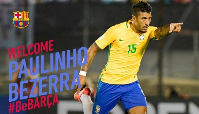¡SE ARMAN! Barcelona hace oficial el fichaje del brasileño Paulinho por 40 millones de euros
