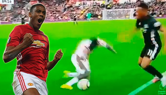 A lo Messi a Boateng: el jugadón de Anthony Martial que dejó en el suelo a Mame Diouf [VIDEO]