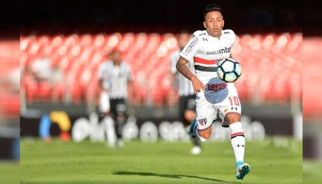 Christian Cueva figura en el once ideal de la jornada del Brasileirao