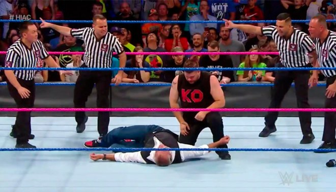 WWE SmackDown Live: Kevin Owens destruyó a Shane McMahon antes de Hell in a Cell