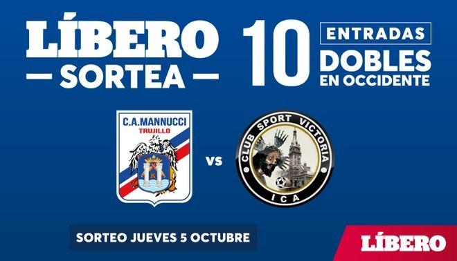 Líbero te regala 10 entradas dobles para el encuentro entre Mannucci vs. Sport Victoria