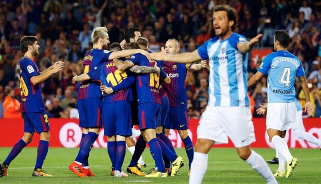 Barcelona venció 2-0 al Málaga y sigue como único líder de la Liga Santander