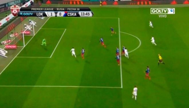 Jefferson Farfán y su genial asistencia en el gol de Lokomotiv ante CSKA [VIDEO]
