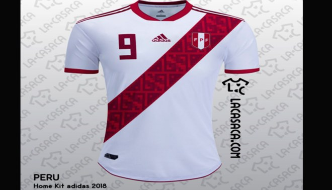 Perú al Mundial Rusia 2018  la camiseta de la  Bicolor  si hubiera sido de  Adidas Fuente   Lacasaca e08a445c8a358