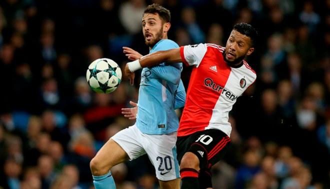 Manchester City venció 1-0 a Feyenood de Renato Tapia y quedó eliminado de la Champions League [VIDEO]