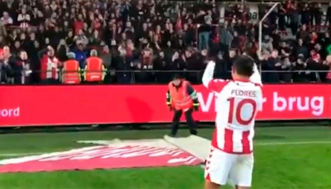 1180e90f5d18c Hinchas del Aalborg se rinden ante Edison Flores tras golazo en la Copa de  Dinamarca  VIDEO
