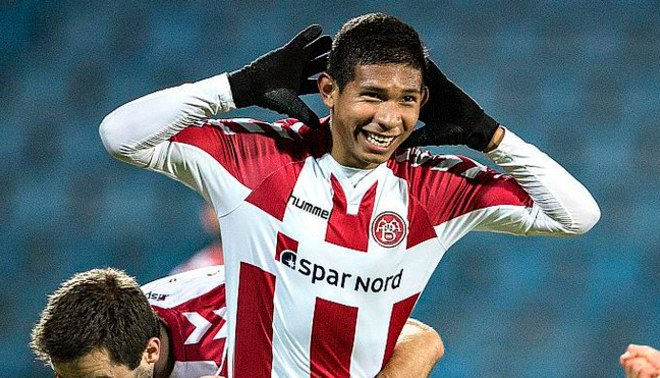 Edison Flores anotó agónico gol para darle el pase al Aalborg BK a cuartos de final de la Copa de Dinamarca [VIDEO]