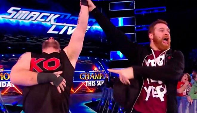 WWE SmackDown: Kevin Owens y Sami Zayn se imponen y calientan el Clash of Champions