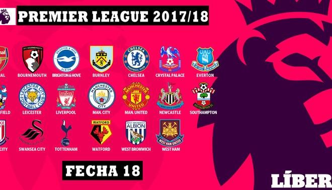 Premier League: Resultados y tabla de posiciones tras la jornada 18
