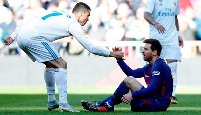 """Lionel Messi y Cristiano Ronaldo los abanderados en el once del 2017 por el Diario """"L'Équipe"""""""