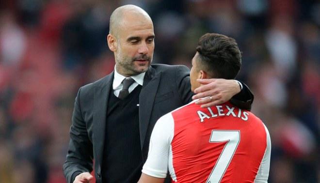 Manchester City: Josep Guardiola felicitó a Alexis Sánchez por su posible fichaje al United
