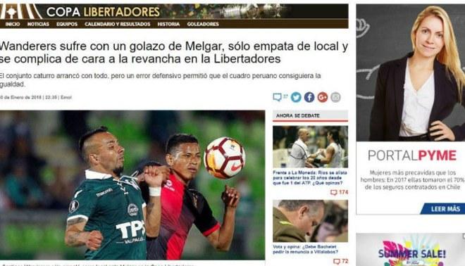 Melgar: así informó la prensa chilena sobre el empate contra Santiago Wanderers por Copa Libertadores