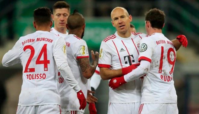 Bayern Múnich goleó al Paderborn y avanzó a las semifinales de la Copa de Alemania