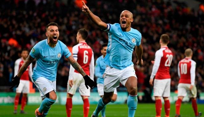 Manchester City es campeón de la Copa de la Liga inglesa tras golear 3-0 al Arsenal