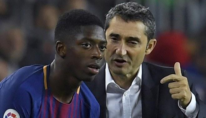 """Valverde: """"Dembélé tiene que afinar un poco, pero sólo tiene 20 años"""""""