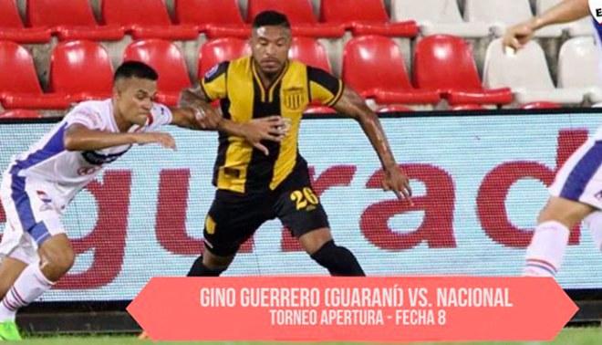 Gino Guerrero debutó con la camiseta de Guaraní [VIDEO]