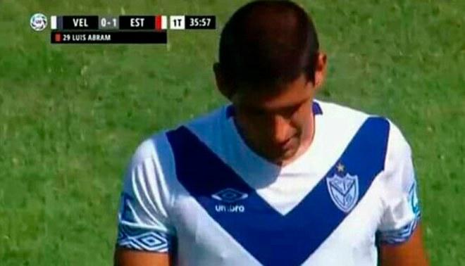 Luis Abram y su escandalosa expulsión en el partido entre Vélez y Estudiantes [VIDEO]