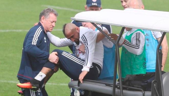 Arturo Vidal abandonó el entrenamiento de Bayern Múnich