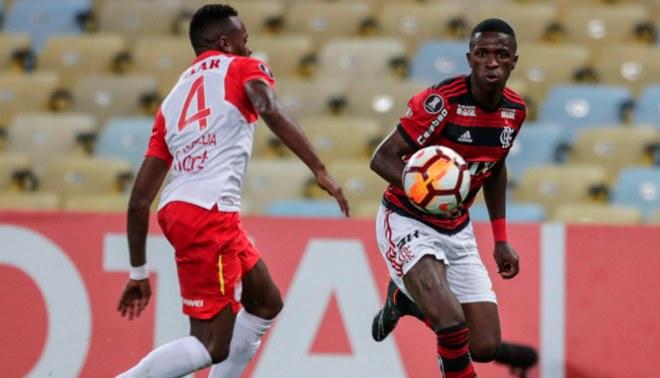 Flamengo empató 1-1 ante Santa Fe por la Copa Libertadores [Resumen y goles]