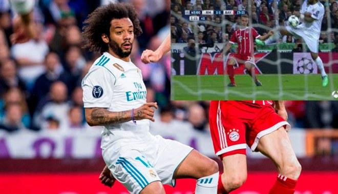 Marcelo aceptó que balón le chocó en la mano y debió ser penal para Bayern Múnich [VIDEO]