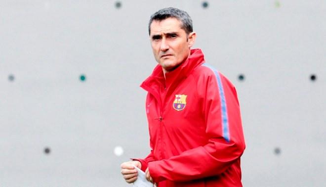 Ernesto Valverde calentó la previa del clásico español