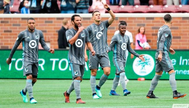 Minnesota United, con Alexi Gómez,  cayó derrotado 3 a 1 en la MLS