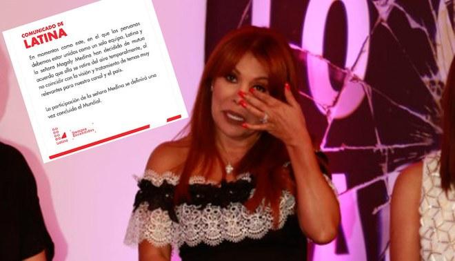 Paolo Guerrero: Magaly Medina es retirada de Latina por comentario tras fallo del TAS