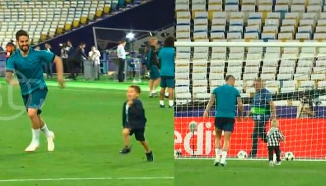 Jugadores del Real Madrid reconocieron el Olímpico de Kiev junto a sus hijos [VIDEO]