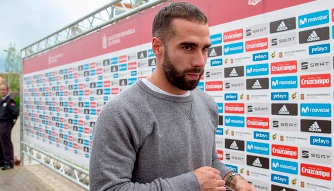 Selección de España: Dani Carvajal llegó a la concentración recuperarse