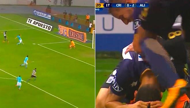 Mario Velarde metió un golazo a Sporting Cristal y explotó en llanto [VIDEO]