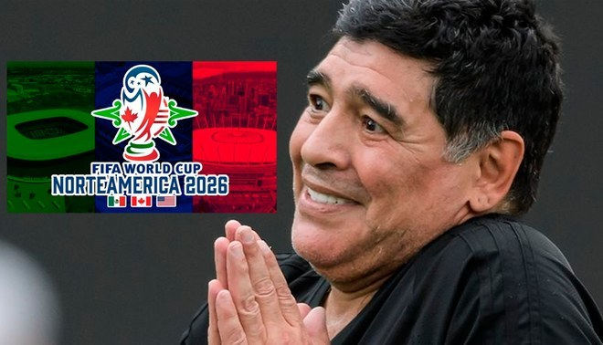 Mundial 2026: Maradona destruyó a Estados Unidos, México y Canadá