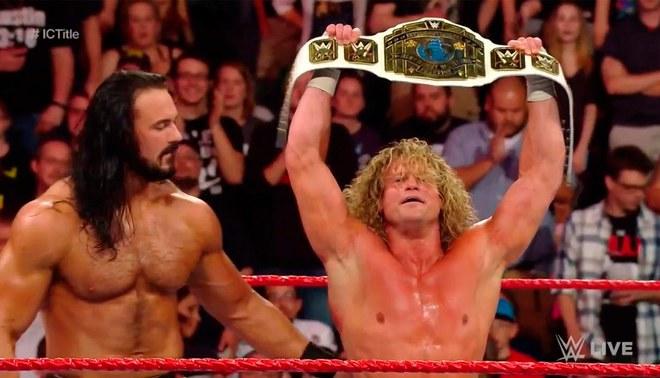 WWE RAW: Dolph Ziggler venció a Seth Rollins y se consagró en el nuevo campeón Intercontinental