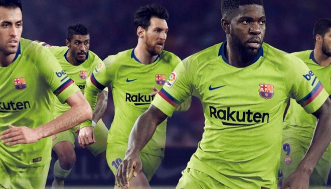 Barcelona presentó su segunda equipación para la temporada 2018-2019