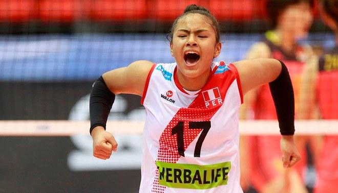 Selección Peruana de Vóley clasificó al Mundial Sub-18 tras vencer a Brasil  Creditos   FPV 8a466bc378