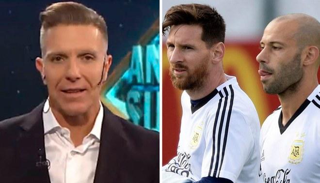 """Periodista argentino sobre Lionel Messi y Javier Mascherano: """"Son gente tóxica"""" [VIDEO]"""