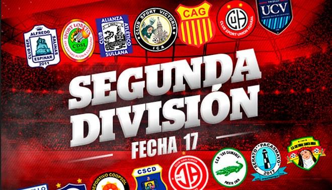 Segunda División: tabla de posiciones y resultados de la fecha 17 ...