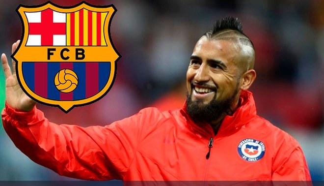 ¡Es oficial! Arturo Vidal es nuevo jugador del Barcelona de España
