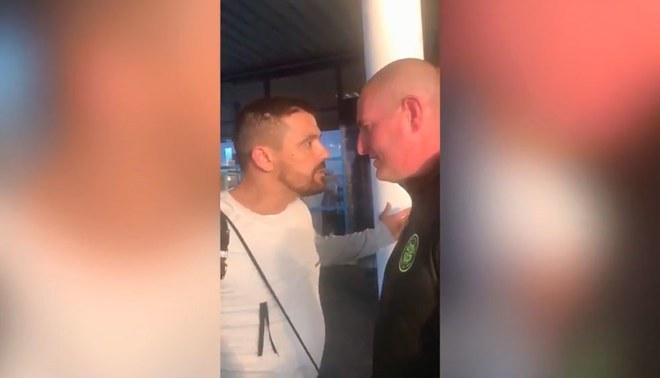Exjugador del Rangers encaró a hincha del Celtic quién se burló de su ataque al corazón [VIDEO]