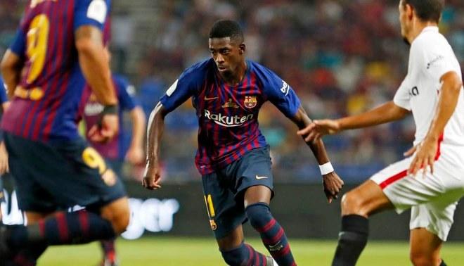 Barcelona vs Sevilla: Dembélé mete golazo para el 2-1 en Supercopa de España [VIDEO]