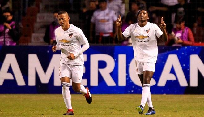 LDU de Quito venció 1-0 a Deportivo Cali por la ida de los octavos de la Copa Sudamericana