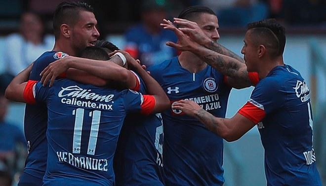 Cruz Azul no tuvo piedad y goleó 4-1 al Veracruz de Gallese y Cartagena en  la Liga MX  VIDEO GOLES  2537d78f9a232