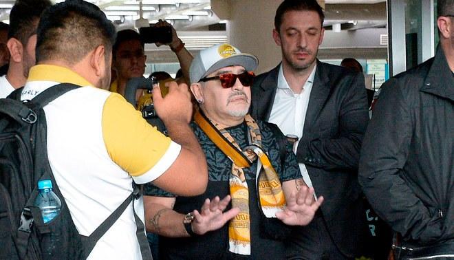 Dorados le dedicó un mural de bienvenida a Diego Armando Maradona
