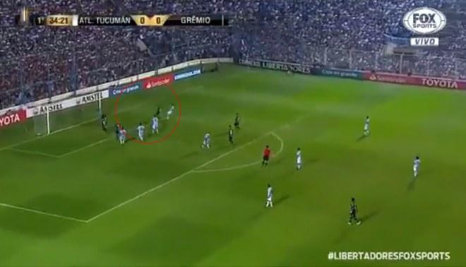 Alisson anota el 1-0 de Gremio sobre Atlético Tucumán en la Copa Libertadores [VIDEO]