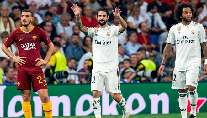 Real Madrid goleó 3-0 a AS Roma por la Champions League [Resumen y goles]