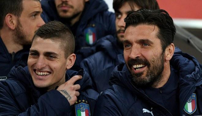 """Marco Verratti, el único """"talento real"""" del fútbol italiano según Gianluigi Buffon"""